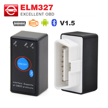 V1.5 MINI ELM327 Bluetooth with PIC18F25K80 chip Power Switch ELM 327 Version 1.5 OBD2/OBDII for Android Torque Car Code Scanner