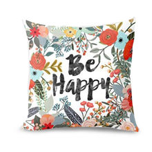 Ouneed Household Pillow case Be Happy Surrounded With Flowers And Plants Personalized Pillow Cover almofadas Dropshipping(China)