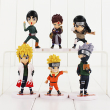 6pcs/lot Naruto Figure Toy Itachi Gaara Kakashi Shikamaru Sasuke Minato Neji Pain Deidara Sasori Mini Model Dolls(China)