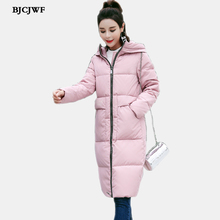 Women`s Down Jacket Winter Long Parka with Large zipper Hooded Thickened white duck Down Coat Waterproof Anorak Quilted Jackets(China)