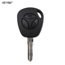 KEYYOU 3 Buttons Replacement Car Key Shell For Lada Uncut Auto Blank Remote Key Case Cover Fob priora kalina(China)