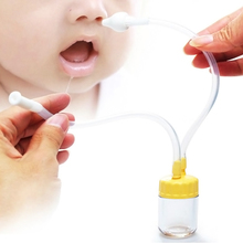 New Born Baby Safety Nose Cleaner Vacuum Suction Nasal Aspirator Free Shipping Random Color