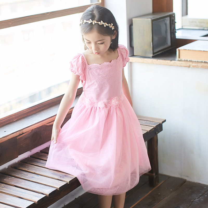 110-160 Summer Girls Embroidery Party Dress Baby Clothes 2017 Flower Girl Princess Lace Evening Dress Kids Dresses for Wedding<br><br>Aliexpress