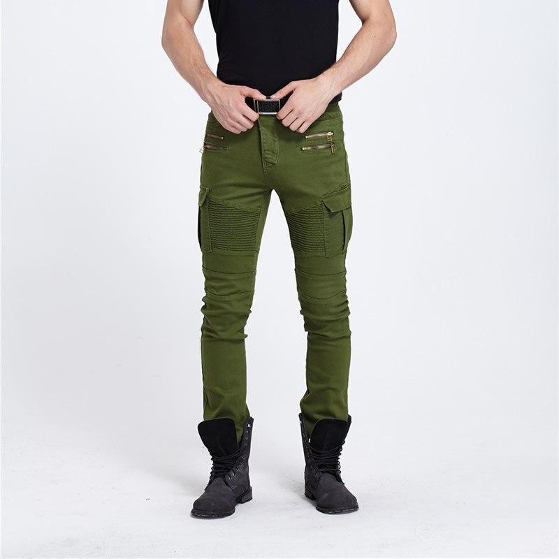 biker jeans xxxl Denim Men Jeansnmd dsq army green fear of god yeezy boost balmai jeans men dolce gusto warm pencil man pantsОдежда и ак�е��уары<br><br><br>Aliexpress