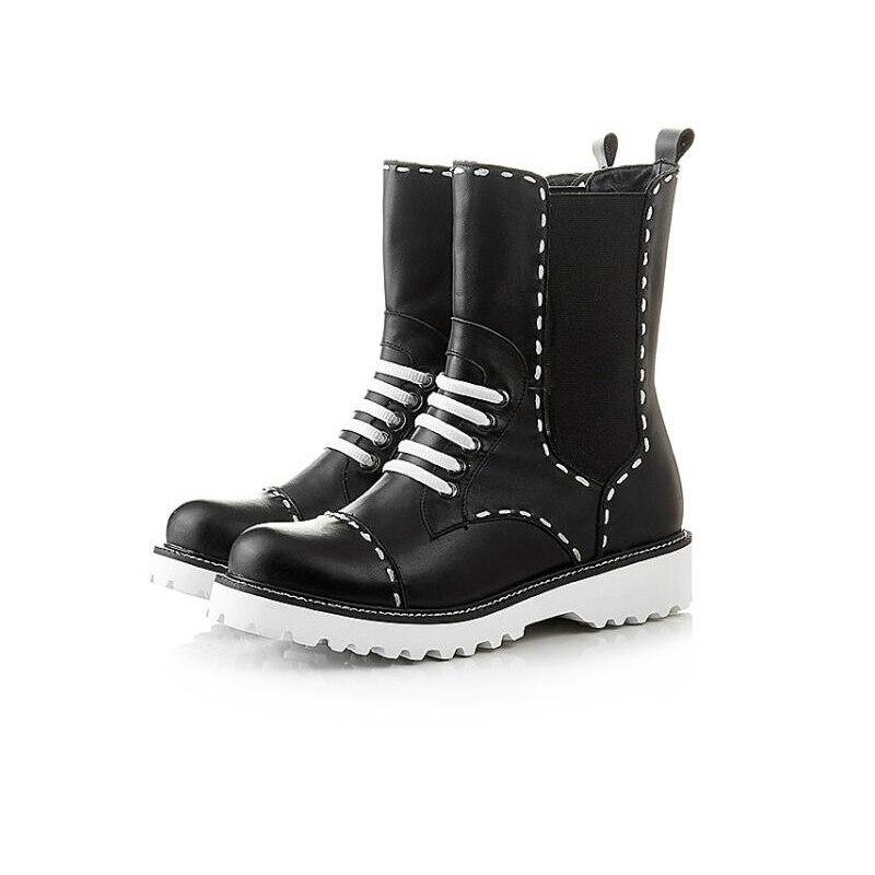 High-top Women Short Boots Stitch 2016 Autumn Winter Martin Boots Platform Waterproof High Quality Fashionable Boots<br><br>Aliexpress