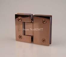 Rose Gold 180 Degree Hinge Open 304 Stainless Steel Glass Shower Door Hinges For Home Bathroom Furniture Hardware HM155(China)