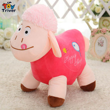 2016 cute plush sheep stuffed toys doll birthday Day gift for baby kids children girlfriend present white pink free shiping