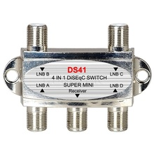 High Quality Mini DiSEqC Switch 4x1 4 to 1 Out DiSeqc Switch Satellite Signal Antenna flat LNB Switch Model DS41 for TV