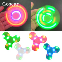 Gosear 2 in 1 LED Mini Wireless Bluetooth Speaker Music Toy Relieves Stress Anxiety Music Fidget Tri Finger Spiner Hand Spinner(China)
