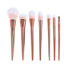 2017 New 7pcs Makeup Brushes Set Powder Foundation Eyeshadow Lip Brushes Professional Rose Gold Make Up Brush Kit Cosmetics Tool