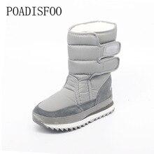 2017 Women Platform warm Winter Women Boots woman Snow Boots Santa Claus Plus Size Warm Slip Mid-calf boots shoe .ZYMY-xz-29