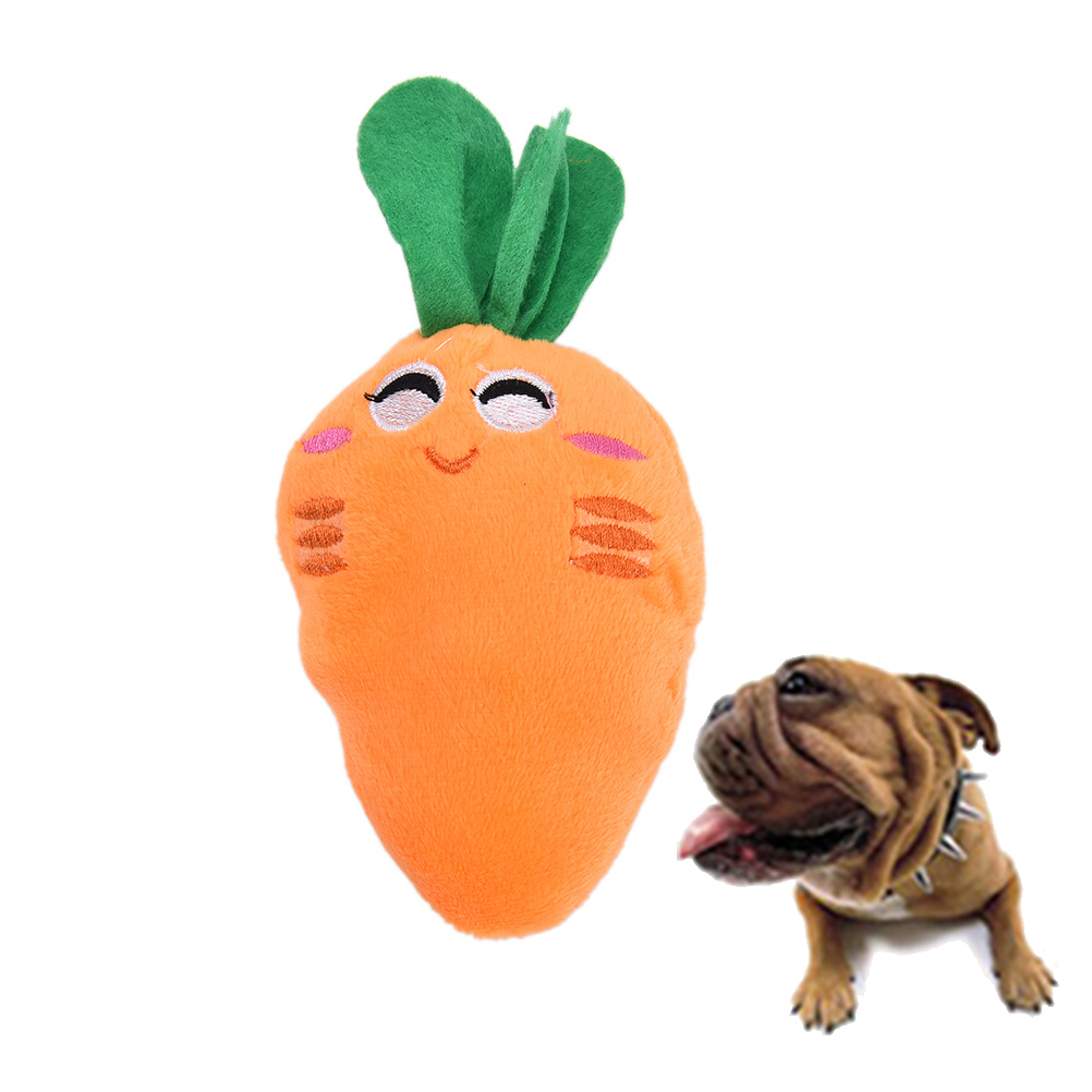 2017 1Pcs New Dog Pet Puppy Carrot Chew Squeaker Lint Sound Toys Pet Supplies Wholesale Pet Toys Gifts