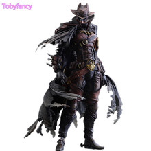 West Cowboy Play Arts Kai Batman Action Figure Dark Red Ver PVC Toys 270mm Anime Movie Model Toy West Cowboy Batman Playarts Kai(China)