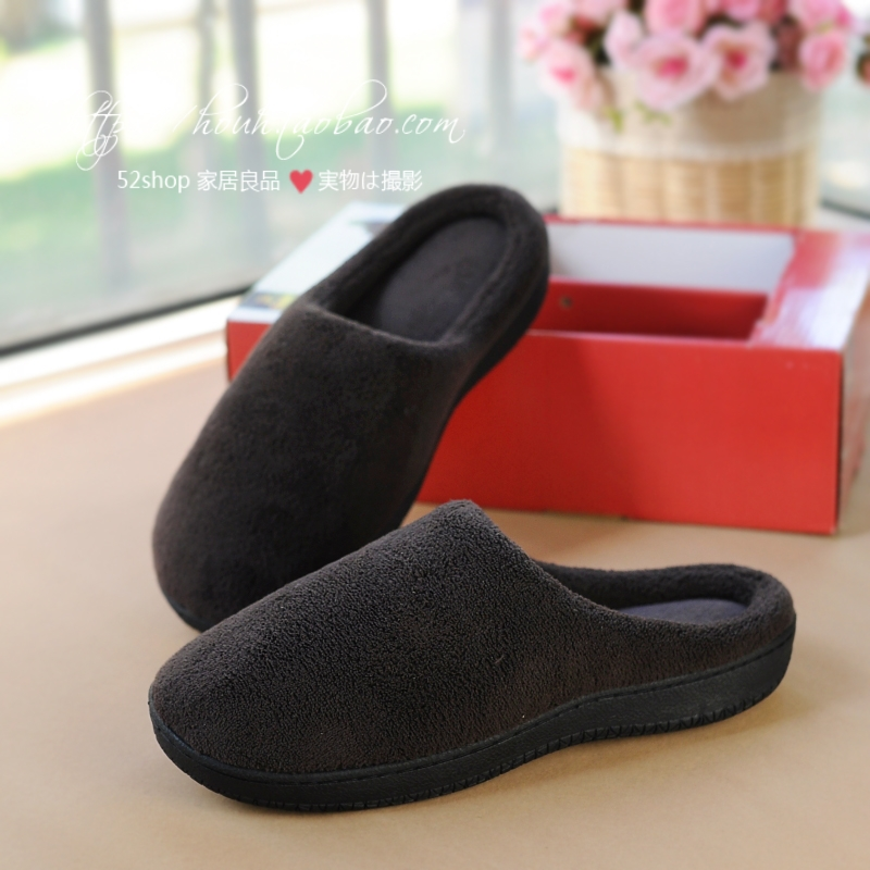 Quality man slippers autumn and winter thermal cotton-padded slippers memory foam slippers winter slippers<br><br>Aliexpress