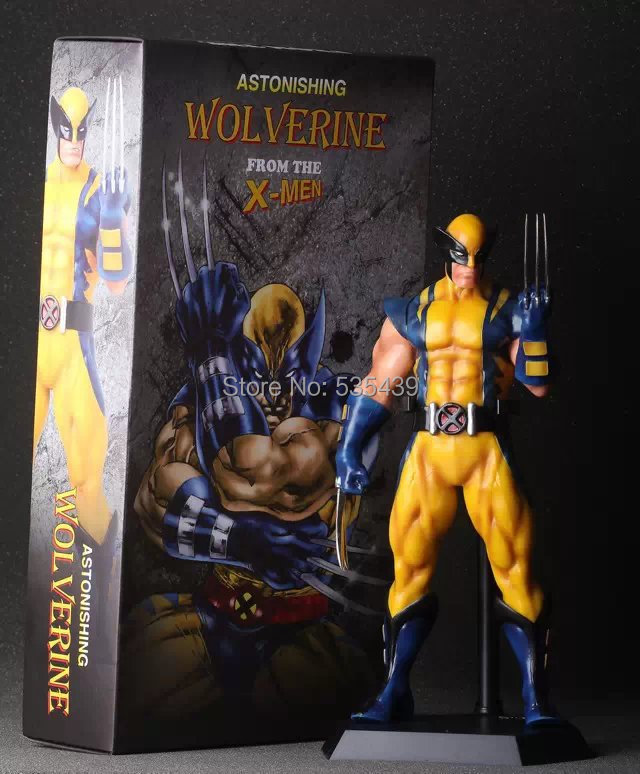 NEW HOT 1pcs 40cm Super Hero X-Man Wolverine Action Figures Toys PVC Model Dolls Movable<br>