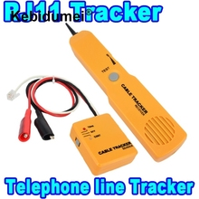 Kebidumei NEW Durable Handheld Telephone Cable Tracker Phone Wire Detector RJ11 Line Cord Tester Tool Kit Tone Tracer Receiver