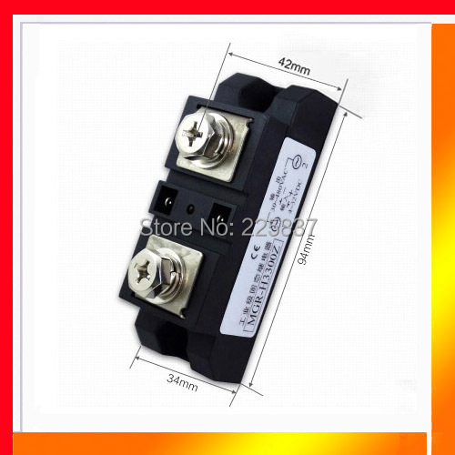 Free shipping high quality SSR 300A DC-AC4-32vDC to 40-480v AC 300A SSR, industrial solid state relay, single phase ssr<br>