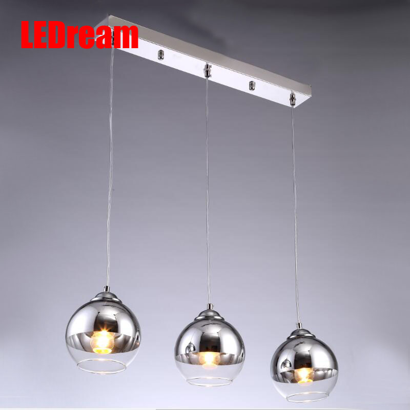 Modern Sliver Shade Mirror Chandelier Light E27 Bulb LED Living room Lamp bedroom Glass Ball lamp mirror for decorative home<br><br>Aliexpress