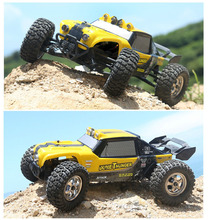 New Hot sales Toys RC Car HBX 12891 1/12 2.4G 4WD Waterproof Hydraulic Damper RC Desert Buggy Truck with LED Ligh(China)
