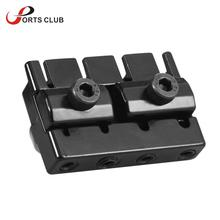 4-string Headless Electric Bass Guitar String Locking Nut Set with 2 Wrench 2 Screw Black Guitar String Locks Nut