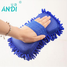 ANDI Super absorbent Sponge Car Cleaning Sponge Ultrafine Fiber Chenille Anthozoan Car Window Glass Wash Gloves Cleaning Brush