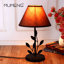 MUMENG Modern Europe Style Leaf Table Lamp AC110V-240V E14 For Living Room Contemporary Desk Lamp Bedside Lamp lampara