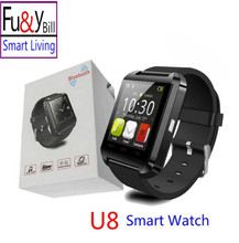 Free shipping New Fashion U8 Bluetooth Smart Watch Mobile Phone Sync Bluetooth Phone Call Step Motion Smart Watch(China)