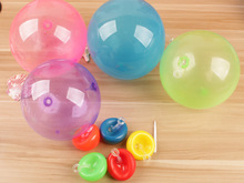 1pcs mini Tiny Wubble Balloon toy 30-40cm after Inflation outdoor play TPR sugar color bubble ball kids gift d22(China)