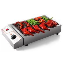 Stainless Steel Commercial Electric BBQ Grill Smokeless Barbecue Grill Barbecue Maker