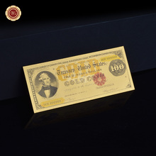 1882 Year 24K Gold Banknote $100 Gold Certificate Pure 999 Gold Plated Banknote US Old Dollar for Home Decor