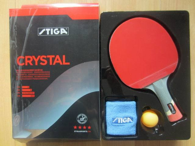 Original STIGA CRYSTAL WITH 4 STARS table tennis rackets for offensive finished rackets racquet sports pingpong paddles<br>