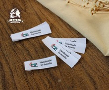 Custom Flat folding Tags / brand labels, Sewing Labels,Custom Clothing Tags, Name Tags, Handmade labels(China)