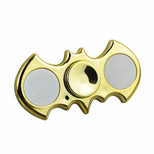 Batman Aluminum Gold-plated LED Light Hand Spinner Fidget Spinner for Autism and ADHD Relief Focus Anxiety Stress Gift Toys