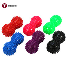 6 Colors Spiky Massage Ball PVC Fitness Exercise Mobility Peanut Ball Stress Relieve Muscle Pain Tension Relax Ball