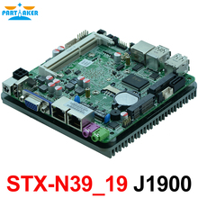 Fanless 2 ethernet ports motherboard J1900 Mini pc mainboard with dual nic STX-N39_19
