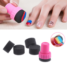 2 Sets DIY Nail Art Design Stamping 1 Stamper + 4 Changeable Sponge Shade Transfer Makeup Beauty Tools(China)