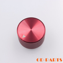 Generic 25*15.5mm Red CNC Machined Solid Aluminum Potentiometer Control Volume Knob FR Speaker Radio Guitar Amp DAC CD Player