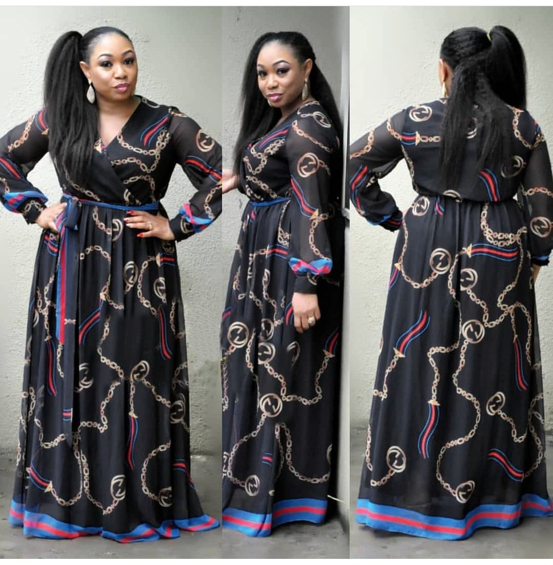 african dresses for women african clothes africa dress print Chiffon Dashiki ladies clothing ankara plus size africa women dress 3