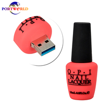 Flash Disc 3.0 Unique Nail Polish Pen Drive Girls Creative Silicone Bottle USB 16GB Red Purple Green Blue - Stylish U Disk Store store