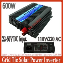 600W grid tie solar inverter,pure sine wave power inverter with mppt function,22-60V DC input,120/230V AC output,CE