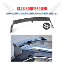 Carbon Fiber Rear Roof Wing Trunk Trim Sticker Custom Spoiler Case for Porsche Cayenne 958 Turbo GTS S Sport 4-Door 2015-2017