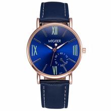 MIGEER 2016 Hot Sale Luxury Fashion Crocodile Faux Leather Mens Analog Watch Wrist Watches Apr 18