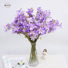 Country style Fake Phalaenopsis Artificial Butterfly Orchid Silk flowers Home Wedding Decoration