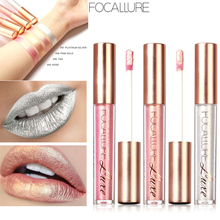FOCALLURE Matte Lipstick Glitter Tint Lip Metallic Lipstick Liquid Makeup Waterproof Nude Make up Lip Gloss Cosmetic 6 Colors