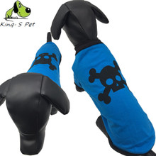 Foot-print  Printed Dog Vest Cute Little Pet Green and Blue Colour Clothes T-shirt Comfortable Style Dog Vests Apparel