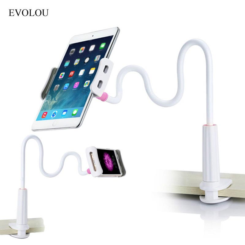 Universal Flexible Long Arms Mobile Phone Holder Lazy Phone Stand for Iphone 7 6s Plus Desktop Tablet Support for Ipad Pro / Air
