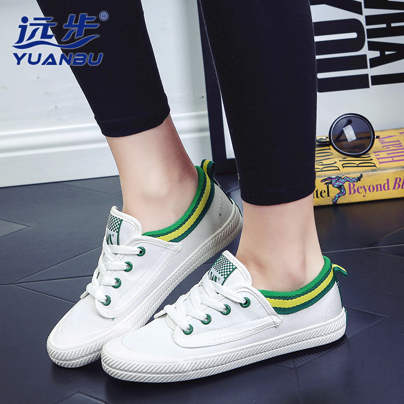 Spring Women Flats Shoes Fashion With The Stars Canvas Shoes Female Flat With Couple Board Shoes Tide B2707<br><br>Aliexpress