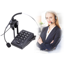 HT300 Hands-free Corded Business Landline Headset telephone Desk Call Center Office Phone Noise-Canceling Single-Ear(China)