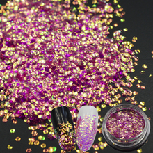 1g Mixed Nail Art Glitter Hot Pink Chameleon Mermaid Effect DIY Tips Sparkly Paillette Decorations Super Shinning Sequins TLD(China)
