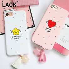 LACK Cute Smile Stars Cartoon Case For iphone 7 Case Fashion Tassel Pendant Phone Cases Funny Letter Cover For iphone7 6 6S Plus